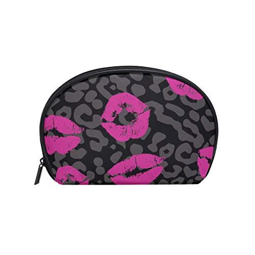 Kosmetiktasche mit Reißverschluss Kosmetiktasche Clutch Mouth Lipstick Kiss Travel Aufbewahrungstasche Tasche Platz für Frauen Dame (Einfache Halloween Make-up Mund)