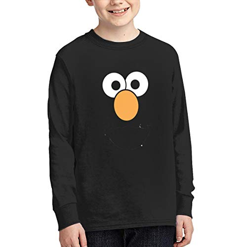Junior Long Sleeve T-Shirt Custom Pattern Elmo