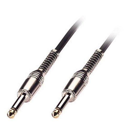 LINDY 6026 - Instrumentenkabel - Gitarrenkabel - 6,3mm Klinkenstecker - Gerade / Gerade - Schwarz - 6m (Patch-kabel-fender)