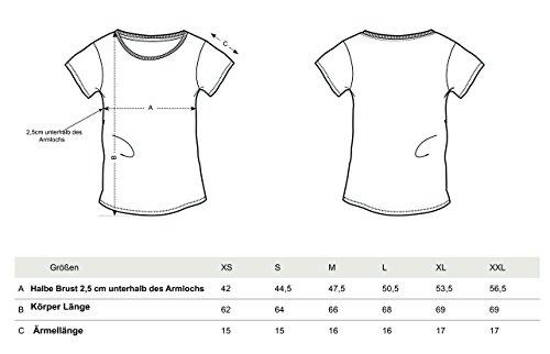 YTWOO Lara Damen Basic T-Shirt Aus 100% Bio-Baumwolle mit U-Ausschnitt, Bio Kurzarmshirt Farben Weiß und Schwarz bis Größe 2XL, Organic Cotton Ocean Depth