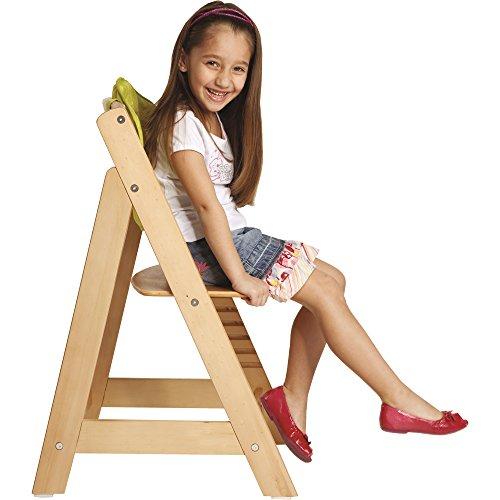 roba Treppenhochstuhl Sit Up III, mitwachsender Hochstuhl vom Babyhochstuhl bis zum Jugendstuhl, Holz, naturfarben - 4