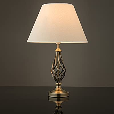 Kingswood Barley Twist Traditional Table Lamp - Antique Brass from Lighting Supermarket
