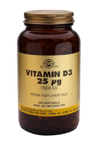 Solgar-Vitamin D3 1000 IE (Cholecalciferol) - 250 Softgels -