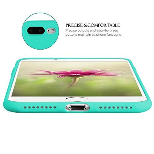 Anfire Coque pour Apple iphone7 plus (5.5 pouces) Ultra Mince Flexible Etui TPU Pare-chocs Slim Light Crystal Housse Soft Silicone Doux Transparent Protection Antidérapant Arrière Gel Original Souple  bleu royal