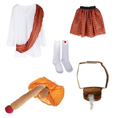 ens Abendkleid Polterabend Kostüm-Party Lustig Anzug (Lustige Penis Kostüme)