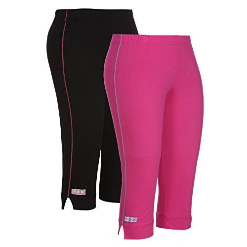 OCEAN RACE Women's Stylish attarctive Colors Cotton Capris-3/4 Th Pant-Pack of 2-15151-XL...