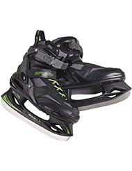 SPOKEY® EVO 1.5 Patines de hielo | Hombres | Mujeres | Niños | 37-46 | Cuchillas de hockey sobre hielo | Acero inoxidable | Ergonómico | Tapa delantera reforzado | Forro extraíble, Spokey Größen:40