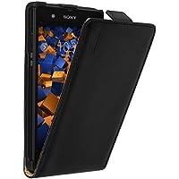 mumbi PREMIUM Leder Flip Case Sony Xperia Z Tasche