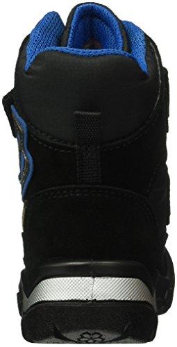 Ecco Snowride, Chaussures Marche Bébé Garçon Noir/Bleu (BLACK/BLACK51052)