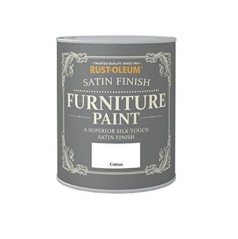 Rust-Oleum Satin Finish Furniture Paint Cotton 750ml