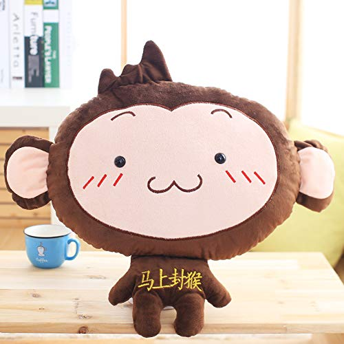 DONGER Creative And Pretty Pillow Quilt Double Use Pillow Shaped Monkey Pillow Two In One Can Warm Up Girls Hands, Figure 6, Removable Blanket Three In One