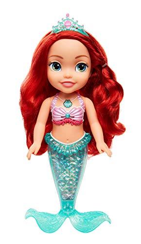 Jakks 84872-11L - Disney Princess Arielle, Sing & Shimmer, Puppe ca. 35 cm groß, singt und hat eine wunderschön leuchtende Schwanzflosse, ideal für die Badewanne