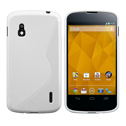 kwmobile LG Google Nexus 4 Hülle - Handyhülle für LG Google Nexus 4 - Handy Case in Weiß
