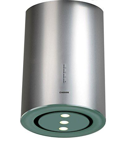 Exklusive Inselhaube 40cm Edelstahl Glas Design/ Dunstabzugshaube mit 1000m³/h Saugstarken und Leisen SilenTech Motor/Deckenhaube mit ECO-LED Beleuchtung/3 Leistungsstufen inkl. 1 Turbostufe/Abzugshaube mit effektiven Randabsaugung/Nachlaufautomatik/Spülmaschinengeeigneter Metall Fettfilter/UVP 1095EUR/EUROPÄISCHE PREMIUMQUALITÄT/