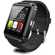 U8 Blutooth Smartwatch para Android Sistema teléfonos móviles y Limitada Funciones para ISO teléfonos (Negro