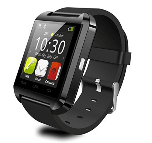 U8 Blutooth Smartwatch for Android System Mobile Phones and Limited Functions for ISO Phones (Black)