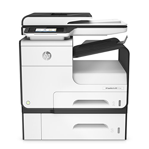 HP PageWide Pro 477dwt Multifunktionsdrucker (A4, Drucker, Scanner, Kopierer, Duplex, Fax, WLAN, LAN, 500 Blatt Papierfach, HP ePrint, Airprint, Cloud Print, USB, 2400 x 1200 dpi) weiß (476dw Hp)