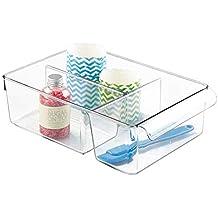 InterDesign Linus Caja para almacenaje, organizador para la cocina de plástico de tamaño grande,