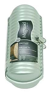 Mermaid M8719 Milk Loaf Tin Ridged Cylinder Hard Anodised Aluminium Cake Mould by Mermaid