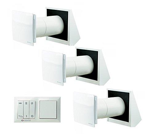 Set di ventilazione Vents Twin Fresh 1RA 50(con controllo) + Twin Fresh R di 150/controllata wohnraum Decentrata di ventilazione con recupero di calore 10.00 wattsW