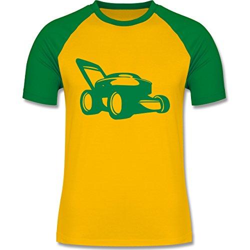 Shirtracer Andere Fahrzeuge - Rasenmäher - Herren Baseball Shirt Gelb/Grün