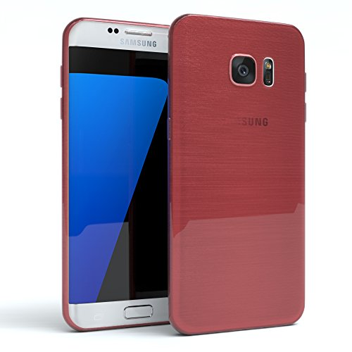 Samsung Galaxy S7 Edge Hülle - EAZY CASE Ultra Slim Cover TPU Handyhülle Matt - dünne Schutzhülle aus Silikon in Transparent / Weiß Brushed Rosa