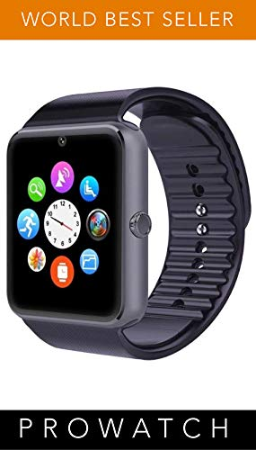 Prowatch plus-Original ITALIANO Smartwatch-Reloj táctil con función teléfono inteligente PW1 Compatible con Ios y Android iPhone 6 plus, S, 6S 6plus, 6, 5, 5S, 5C, 4S, 4, Android, 4, Samsung Galaxy Note 3 Lite, Note 2, S5, S4, S3, HTC, BlackBerry, LG, Sony, Huawei