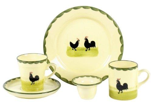 Zeller Keramik Becher Hahn+Henne 0,2l  Henne Und Hahn