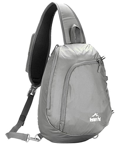 Venture Pal UmhängetascheCrossbody-Tasche Leichtgewicht Wandern Reisen Rucksack Tagesrucksack für Männer und Frauen Venture Pal(Grey)