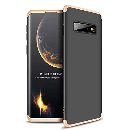 Lanpangzi Compatible con Funda Xiaomi Redmi Go Case Caso 3 in 1 Carcasa Todo Incluido Anti-Scratch Case Cover Protectora de teléfono para Xiaomi Redmi Go (Oro Negro)
