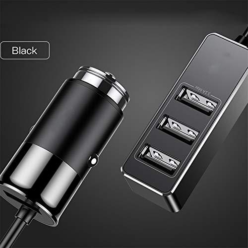 Schnelles Autoladegerät für iOS Android Tablet Handy Ladegerät 5V 5.5A Auto 4 Port USB Adapter Shared Extension,Black (Für Htc-handys Boost Mobile)
