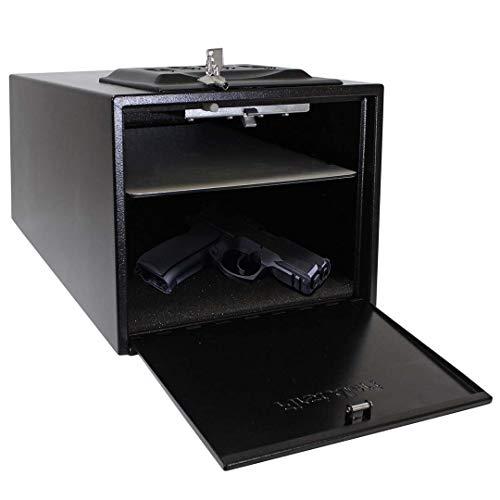 WTY Digitale Kombination Code Box Waffentresore Tragbare Massivstahl Sicherheitsschlüsselschloss Tresore für Geld Wertsachen Schmuck Pistole Box -