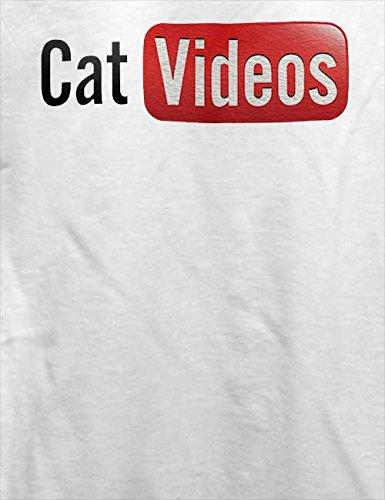 Cat Videos T-Shirt Weiß