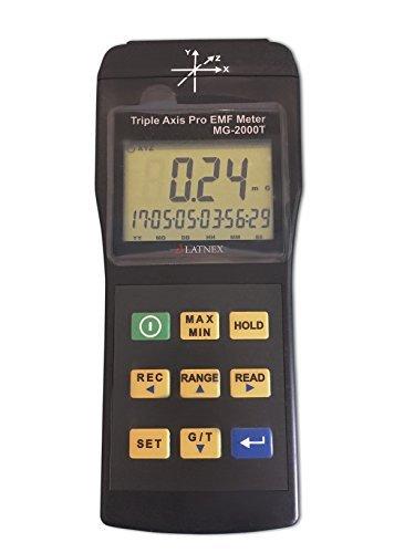 Emi campo magnético Gauss medidor Detector mg-2000t Triple Axis uso profesional magnética Interferencia de RM Máquinas Industriales y equipo médico de líneas aparatos EMF inspecciones