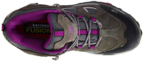 Karrimor Toledo Weathertite, High Rise Hiking donna Grigio (Grey (Grey/Purple))