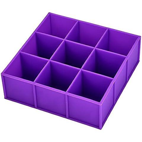 eBoot Lavabile 1,3 Pollici 9-Square Morbido Silicone Cubetto di Ghiaccio