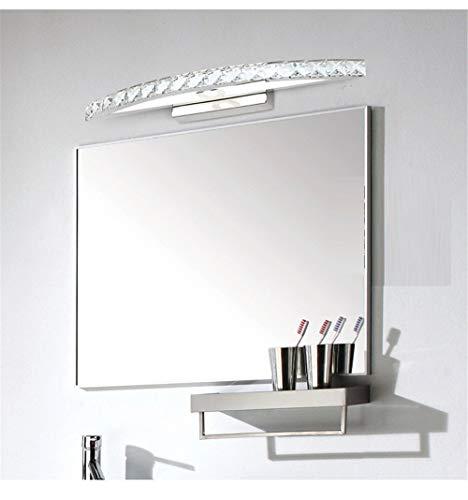 Multi-MirrorLamp Einfache Luxus Bad Spiegel Lampe LED Kristall Wandleuchte wasserdicht Anti-Fog Edelstahl Bad Spiegel Scheinwerfer, transparentes weißes Licht, 74cm 18W -