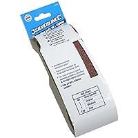 Silverline 603333de papel de lija, 60x 400mm, conjunto de 5