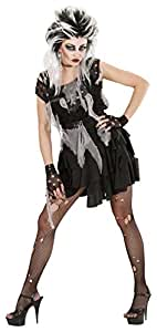 Ladies Zombie Punk Costume Small UK 8-10 for Halloween Fancy Dress