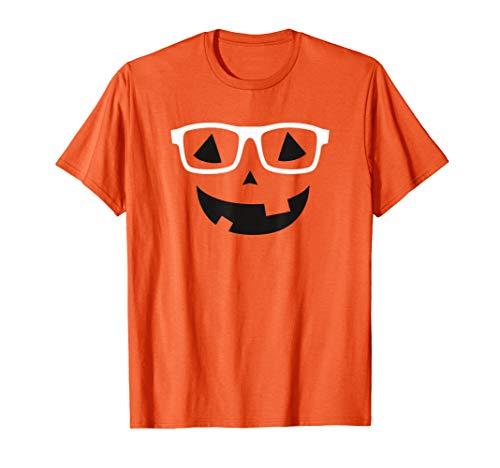 Lustiges Jack O 'Laterne Nerd Kürbis Halloween Kostüm T-Shirt