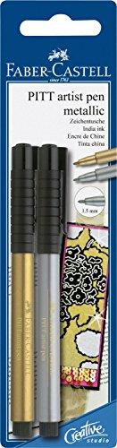 - Tuschestift Pitt Artist Pen gold und silber ()