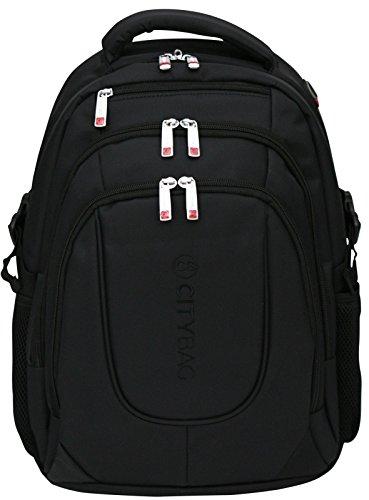 Zaino porta laptop da 15,6 pollici - impermeabile e traspirante - Nero