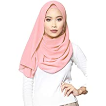 Turban I Baumwolle Hijab Kopftuch Halstuch f/ür Damen I Kopfbedeckung 90 x 180 cm I Islamische Muslim Gesichtsschleier Hellbeige Pashmina Schal Haartuch ❤️ SAFIYA