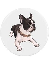 Azeeda 58mm Bulldog Francés Insignia de Botón Pin ...