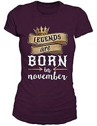 Legends Are Born In November Geburtstag Geschenk T-Shirt Damen