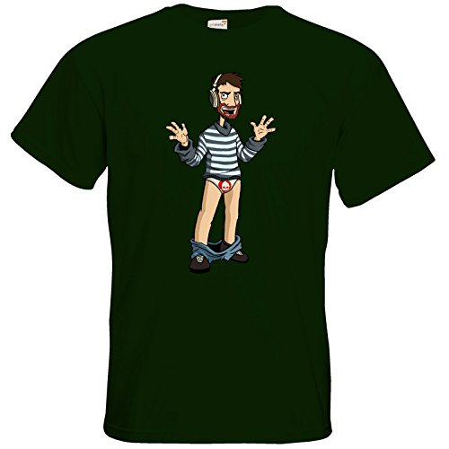 getshirts - Necr1teTV - T-Shirt - Hosenlos Bottle Green