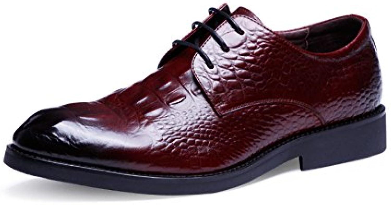 Zapatos De Cuero para Hombres Zapatos De Hombre Casual para Negocios Zapatos De Cuero con Patrón De Cocodrilo -