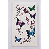 GYMNLJY Etiquetas engomadas del tatuaje 3D coloridas mariposas cicatriz goma cintura mano pierna impermeable hombres y mujeres tatuaje etiqueta engomada del tatuaje del Painting(20 Sheet Pack) , 10.5*6cm