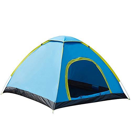 LINGJIE Outdoor Automatische Camping Zelte Doppelte Menschen Doppeltür Tragbare Zelte 2-3 Personen Geschwindigkeit Hand Werfen Camping Zelte,Blue