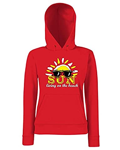Cotton Island - Sweats a capuche Femme T0312 sun living on the beach vintage, Taille S